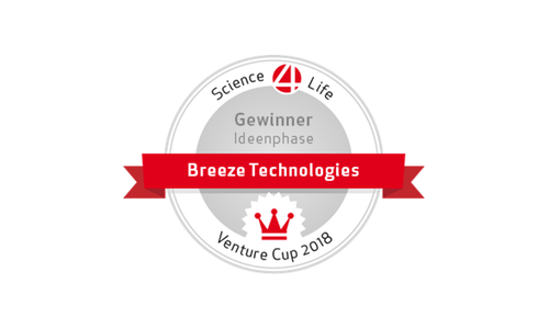 Breeze won the Science4Life Venture Cup in the idea stage.