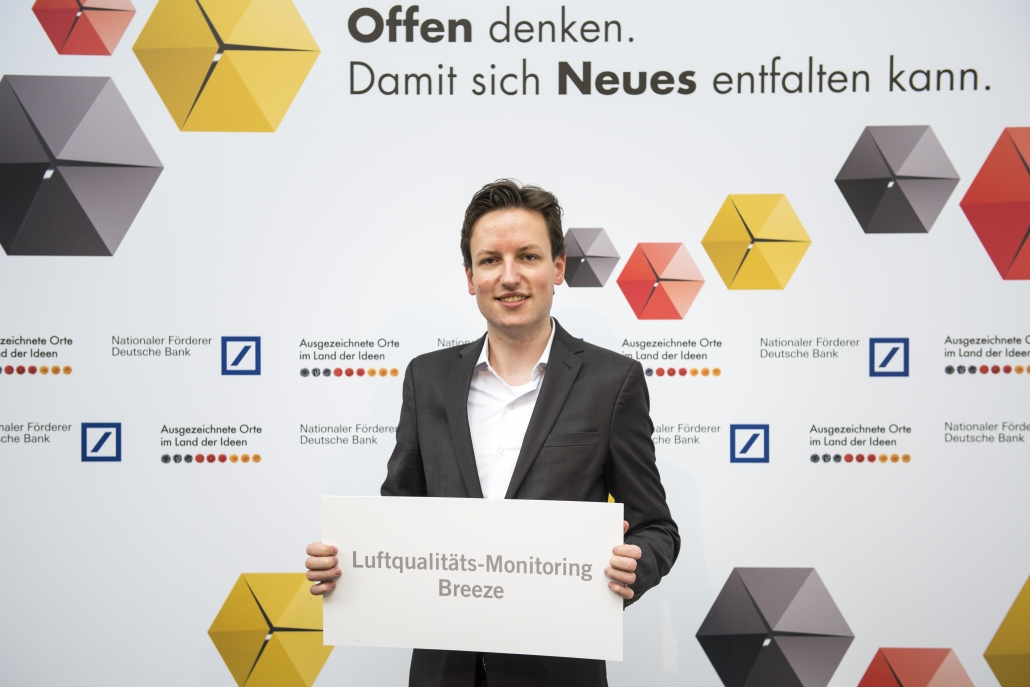 Robert Heinecke bei der Siegerauszeichnung für Deutschland - Land der Ideen 2017.