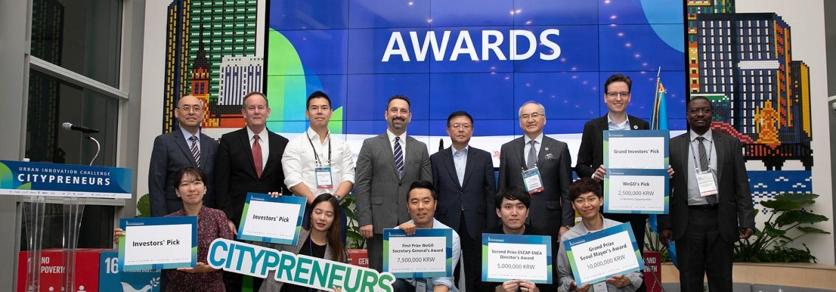 Brezee Technologies wins the 2019 Citypreneurs Challenge in Seoul, Korea.