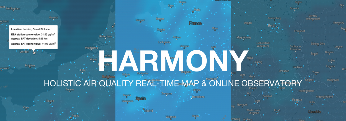 During NASA's International Space Apps hackathon, the team of Breeze Technologies developed HARMONY: a Holistic Air Quality Real-Time Map & Online Observatory.