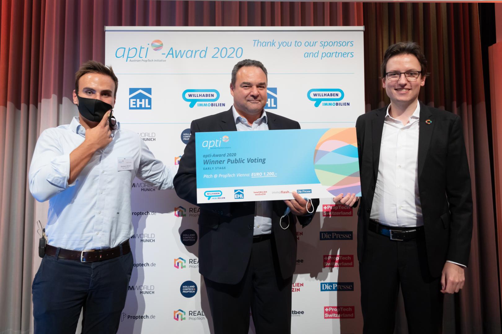 Breeze Technologies erhält den Publikumspreis bei der jährlichen apti-Award-Gala.